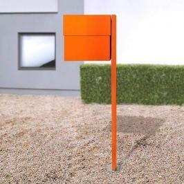 Breiter Briefkasten Letterman XXLII Pfosten orange
