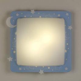 2in1-Deckenleuchte Stars in Blau
