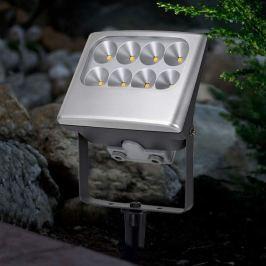 Außenstrahler NEGARA mit 8 LEDs und Erdspieß