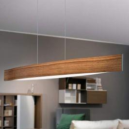 Holzton Nuss - LED-Hängeleuchte Fornes