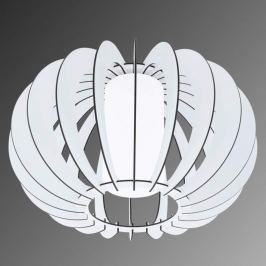 Stellato - runde Holz-Deckenleuchte in Weiß