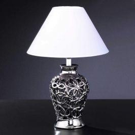 Aparte Tischleuchte COCO mit Keramikfuß silber