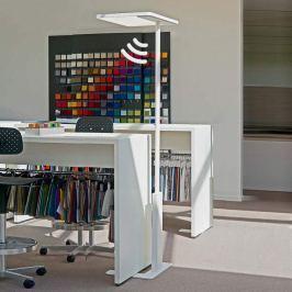 Sensor-Büro-Stehleuchte Linea-F weiß