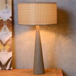 Moderne Textil-Tischleuchte Conos