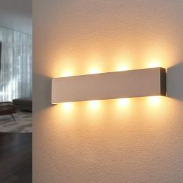 Nickelfarbene LED-Wandleuchte Maja 54 cm
