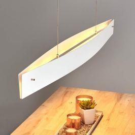 Weiße LED-Pendelleuchte Malu, dimmbar, 119 cm