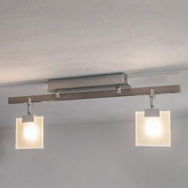 Livius - LED-Deckenleuchte mit eckigen Glasplatten