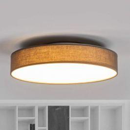 Schöne LED-Stoffdeckenlampe Saira in Grau