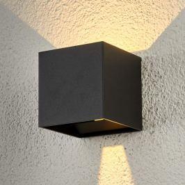 Würfelförmige LED-Außenwandlampe Ella