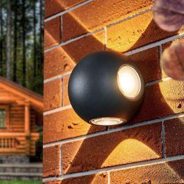 Kugelrunde LED-Außenwandlampe Elsie