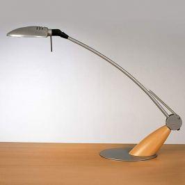Dekorative Schreibtischlampe Swing mit Holz