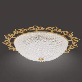 Große LED-Deckenleuchte Brillare mit Golddekor