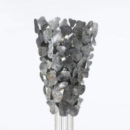 Silberfarbene Designer-Wandleuchte Corten
