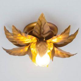Deckenleuchte ANTIK mit goldenen Blättern