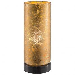 Goldene LED-Tischleuchte Latina aus Glas