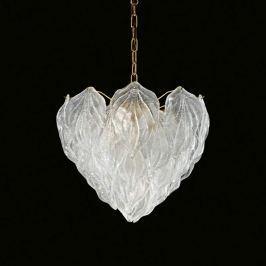 Mehrlagige Glas-Hängeleuchte Foglie, 45 cm