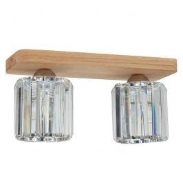 Zweiflammige Deckenlampe Jorunn mit Holz