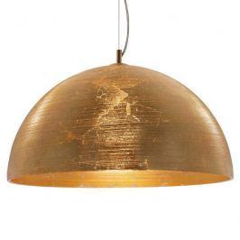 Goldene Hängeleuchte Dome mit Glasschirm