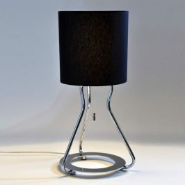 Verchromte Tischleuchte Artus, schwarz