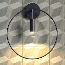 Moderne LED-Wandleuchte Revolta, schwarz