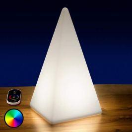 Akkubetriebene RGB-LED-Pyramide, 73 cm