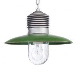 Klassische Außen-Hängeleuchte Ampere alu/grün