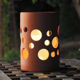 NEW GENOVA LED-Solar-Dekoleuchte, zylinder terra
