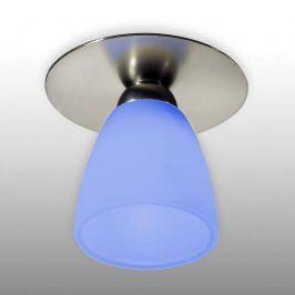Einbauleuchte ARTE nickel sat. Glasschirm blau