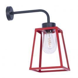 Außenwandleuchte Lampiok in Laternenform, rot