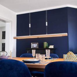 Holz und Beton - LED-Hängeleuchte Kati, 98 cm