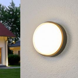 Bega - runde LED-Außenwandlampe Bardo, stoßfest