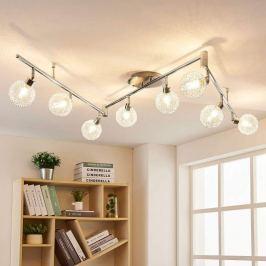 8-flammige LED-Deckenlampe Ticino, Alugeflecht