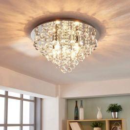 Funkelnde Deckenlampe Annica mit Chromplatte