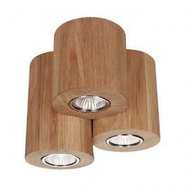 Dreiflammige LED-Deckenleuchte Wooddream