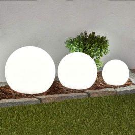3er-Set LED-Solarlampen Lago, Kugeln