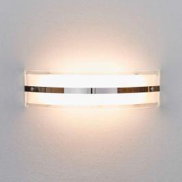 LED-Glaswandleuchte Lianda mit Chromstreifen