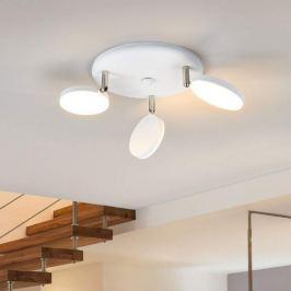 3-flammige LED-Deckenleuchte Milow in Weiß