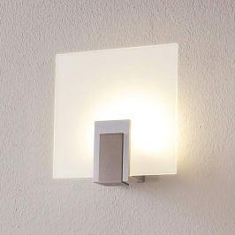 Glas-Wandlampe Sara mit LED und Schalter