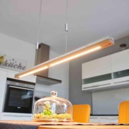 Holz und Beton - LED-Hängeleuchte Kati, 118 cm