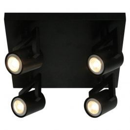 Moderne Deckenlampe ValvoLED in Schwarz 4-flg.