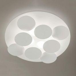 Schneeweiße LED-Deckenleuchte Nuvola, verstellbar