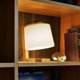 Ansprechend designte Holz-Tischleuchte Mona