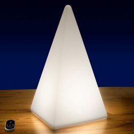 LED-Außendekoleuchte Pyramide mit Akku, 73 cm