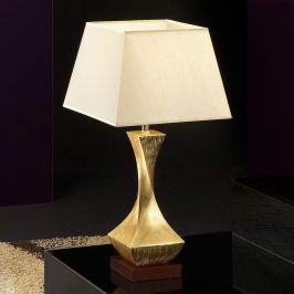 Auffällige Tischleuchte Deco mit goldenem Fuß