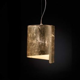 Formschöne Hängeleuchte Papiro Ø 26 cm gold