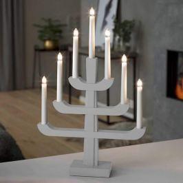 Siebenflammiger Kerzenleuchter Charis in Grau