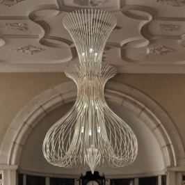Designer-Hängeleuchte Silhouette in Chrom, 100cm