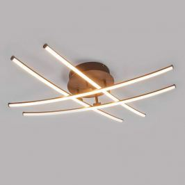 4-flammige LED-Deckenlampe Yael, rostfarben