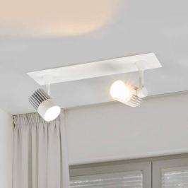 2-flammige LED-Einbaulampe Justus, auch für Aufbau