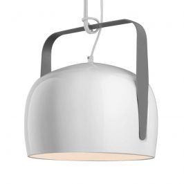 Karman Bag - weiße Hängeleuchte 32 cm, glatt
